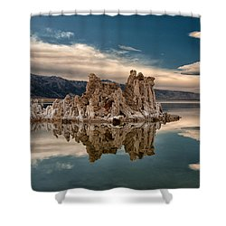 Tufa Reflections Shower Curtain by Cat Connor