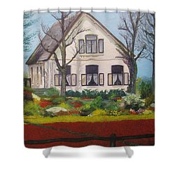 Tulip Cottage Shower Curtain by Martin Howard