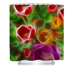 Tulips-6944-fractal Shower Curtain by Gary Gingrich Galleries