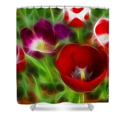 Tulips-6967-fractal Shower Curtain by Gary Gingrich Galleries