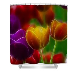 Tulips-7060-fractal Shower Curtain by Gary Gingrich Galleries