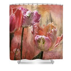 Tulips - Colors Of Love Shower Curtain by Carol Cavalaris