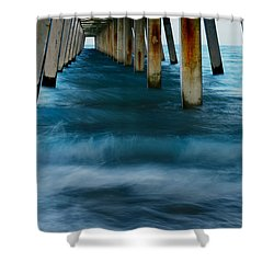 Turbulence Shower Curtain by Laura Fasulo