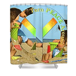 Turn Peace Around 2 Shower Curtain by Charlie and Norma Brock