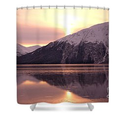 Turnagain Arm Morning Shower Curtain by Crystal Magee