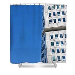 Turning Torso Skyscraper Shower Curtain by Antony McAulay