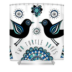 Turtle Dove Shower Curtain by Susan Claire