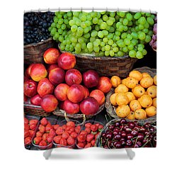 Tuscan Fruit Shower Curtain by Inge Johnsson