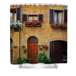 Tuscan Homes Shower Curtain by Inge Johnsson