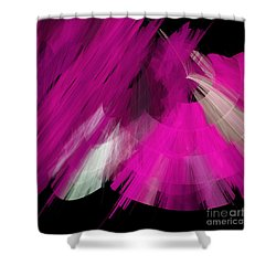 Tutu Stage Left Abstract Fuchsia Shower Curtain by Andee Design