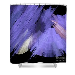 Tutu Stage Left Periwinkle Abstract Shower Curtain by Andee Design