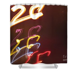 Twenty Shower Curtain by Ausra Huntington nee Paulauskaite