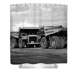 Twin Caterpillar Trucks Shower Curtain by Alanna DPhoto