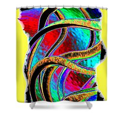 Twist And Shout 3 Shower Curtain by Will Borden