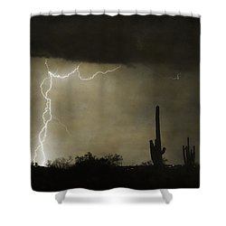 Twisted Desert Lightning Storm Shower Curtain by James BO  Insogna