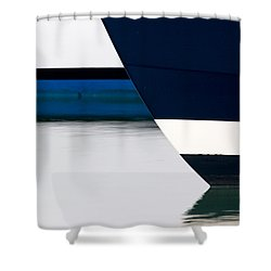 Two Boats Moored Shower Curtain by CJ Middendorf