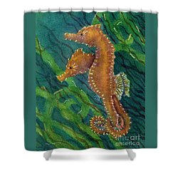 Two By Sea Shower Curtain by Amy Kirkpatrick