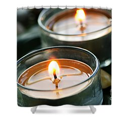 Two Candles Shower Curtain by Elena Elisseeva