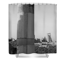 Two Columns At Apollo Sanctuary Shower Curtain by Augusta Stylianou