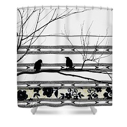 Two Is Better Shower Curtain by Gothicrow Images