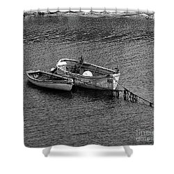 Two Old Rowboats Shower Curtain by Kathleen Struckle