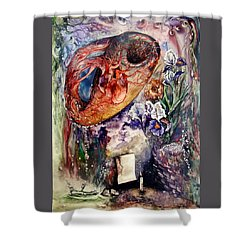Two Realities Shower Curtain by Mikhail Savchenko