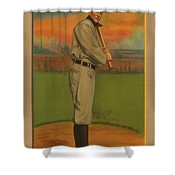 Ty Cobb Circa 1911 Shower Curtain by George Pedro