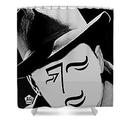 Typortraiture Humphrey Bogart Shower Curtain by Seth Weaver