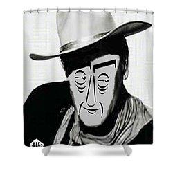 Typortraiture John Wayne Shower Curtain by Seth Weaver