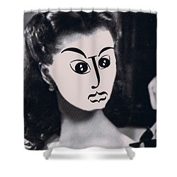Typortraiture Scarlett Shower Curtain by Seth Weaver