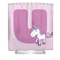 U Shower Curtain by Gina Dsgn