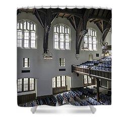 Uf University Auditorium Window And Balcony Detail Shower Curtain by Lynn Palmer