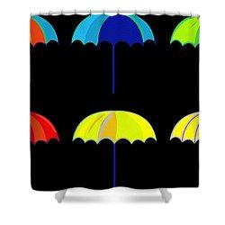 Umbrella Ella Ella Ella Shower Curtain by Florian Rodarte