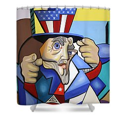 Uncle Sam 2001 Shower Curtain by Anthony Falbo