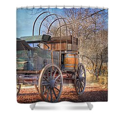 Uncovered Wagon Shower Curtain by Donna Kennedy
