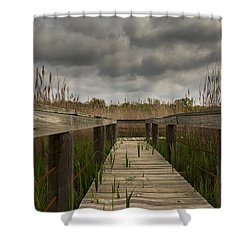 Under The Boardwalk Shower Curtain by Jonathan Davison