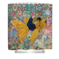 Under The Sea Party Shower Curtain by Sandi OReilly