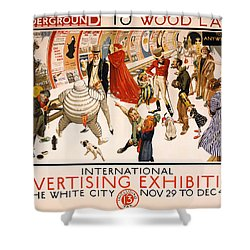Underground To Wood Lane To Anywhere Shower Curtain by Georgia Fowler