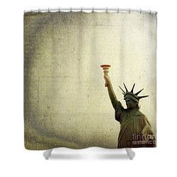 Understanding Liberty Shower Curtain by Trish Mistric