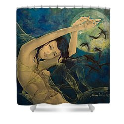 Unfinished Song Shower Curtain by Dorina  Costras