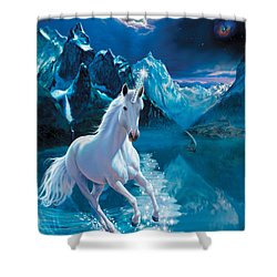 Unicorn Shower Curtain by Andrew Farley