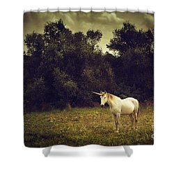 Unicorn Shower Curtain by Carlos Caetano