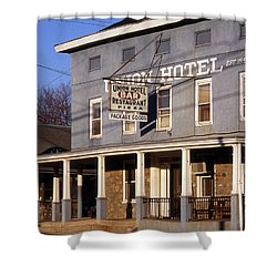 Union Hotel Shower Curtain by Skip Willits
