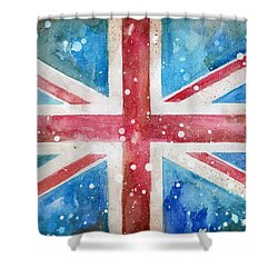 Union Jack Shower Curtain by Sean Parnell