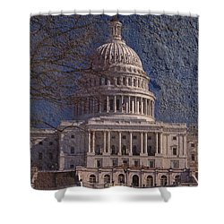 United States Capitol Shower Curtain by Skip Willits