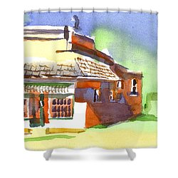 United States Post Office Shower Curtain by Kip DeVore