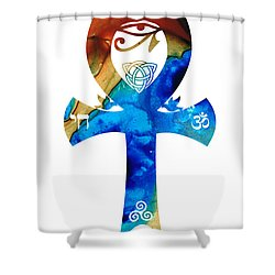 Unity 15 - Spiritual Artwork Shower Curtain by Sharon Cummings
