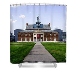 University Of Cincinnati Tangeman University Center  Shower Curtain by Paul Velgos
