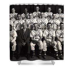 University Of Michigan - 1953 College Baseball National Champion Shower Curtain by Mountain Dreams