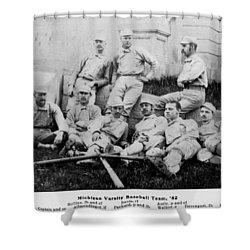University Of Michigan Baseball Team Shower Curtain by Georgia Fowler